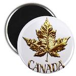 Gold Canada Souvenir Magnets