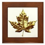 Gold Canada Souvenir Framed Tile