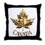 Gold Canada Souvenir Throw Pillow