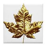 Gold Canada Souvenir Tile Coaster
