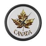 Gold Canada Souvenir Large Wall Clock