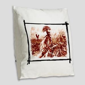 Roman Centurion in battle Burlap Throw Pillow