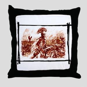 Roman Centurion in battle Throw Pillow