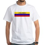 Colombia somewhere White T-Shirt