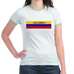 Colombia somewhere Jr. Ringer T-Shirt