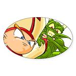 SuperPope Oval Sticker