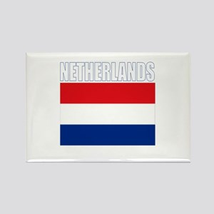 Netherlands Flag (Dark) Rectangle Magnet