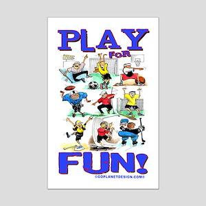 Play For FUN! Mini Poster Print