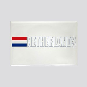 Netherlands Flag II (Dark) Rectangle Magnet
