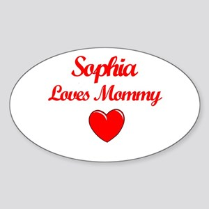 Sophia Loves Mommy Oval Sticker