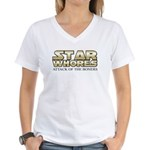 Star Whores Attack of the boners Women's V-Neck T-