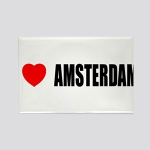 I Love Amsterdam, Netherlands Rectangle Magnet