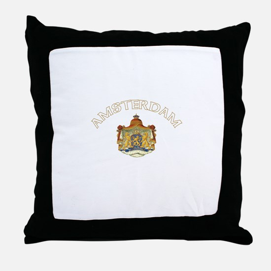 Amsterdam, Netherlands Coat o Throw Pillow