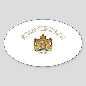 Amsterdam, Netherlands Coat o Oval Sticker