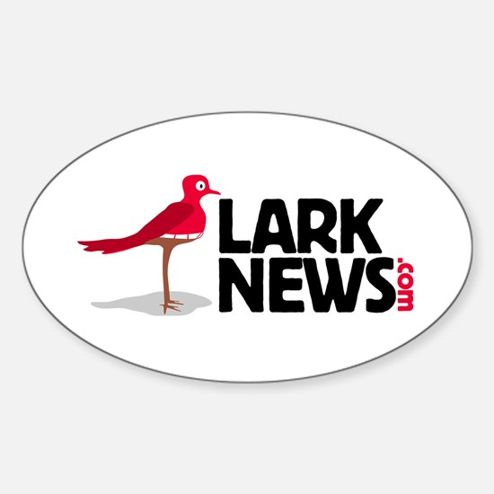 Lark News Oval Decal