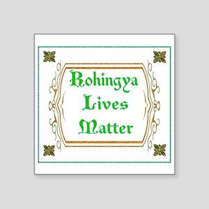Rohingya Lives Matter-Green tee Sticker