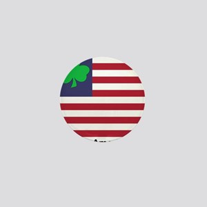 Irish American Flag Mini Button