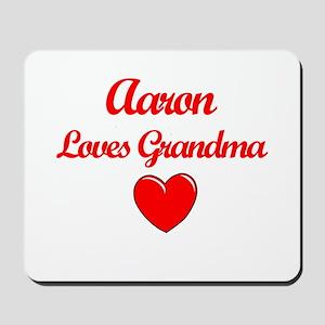 Aaron Loves Grandma Mousepad