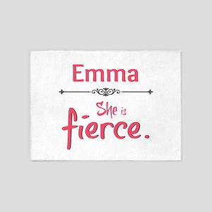 Emma is Fierce 5'x7'Area Rug