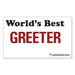 World's Best Greeter Rectangle Sticker