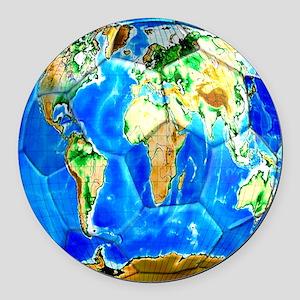 World Soccer Ball Round Car Magnet