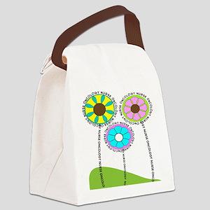ONCOLOGY NURSE FLOWERS 2 Canvas Lunch Bag