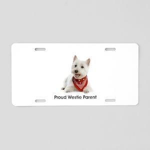 Proud Westie Parent Aluminum License Plate