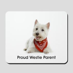 Proud Westie Parent Mousepad