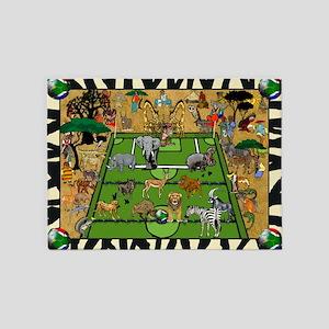 Soccer Safari 5'x7'area Rug