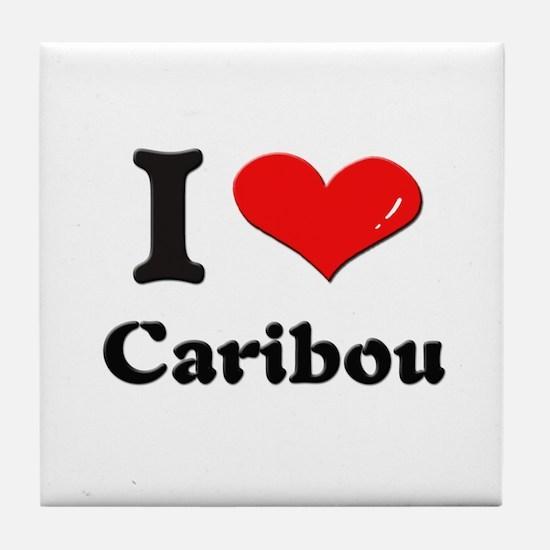 I love caribou  Tile Coaster