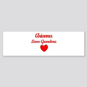 Arianna Loves Grandma Bumper Sticker