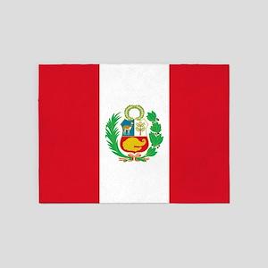 Flag Of Peru 5'x7'area Rug