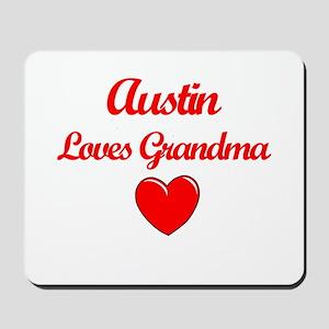 Austin Loves Grandma Mousepad