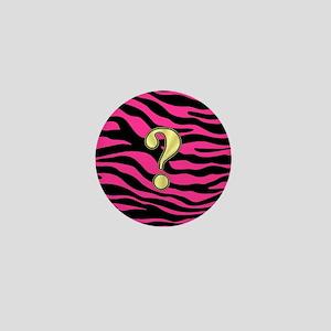 HOT PINK ZEBRA GOLD ? Mini Button