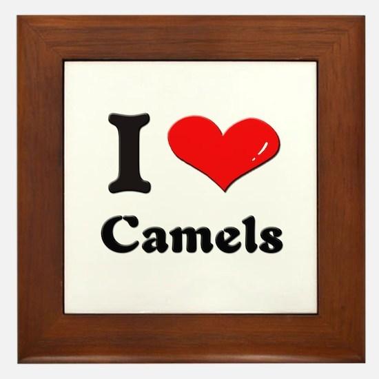 I love camels  Framed Tile