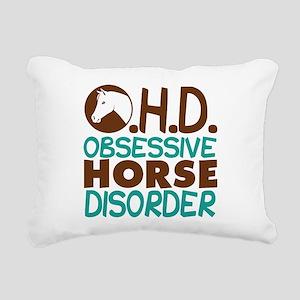 Funny Horse Rectangular Canvas Pillow