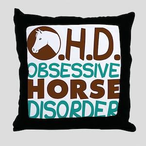 Funny Horse Throw Pillow
