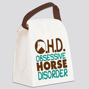 Funny Horse Canvas Lunch Bag
