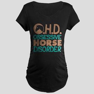 Funny Horse Maternity Dark T-Shirt
