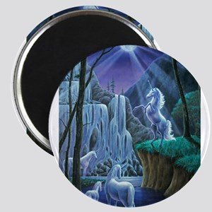 Unicorns in the Moonlight large poster Magnets