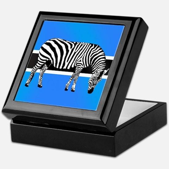 Botswana Zebra Flag Keepsake Box