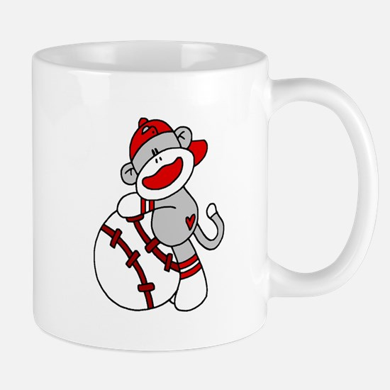 Sock Monkey Baseball Mug