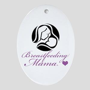 Breastfeeding Mama Ornament (Oval)