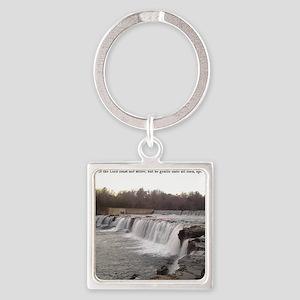 The Grand Falls of Joplin, Missour Square Keychain