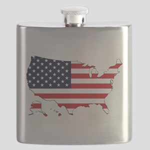 USA Map Flask