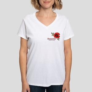 Remember Poppy Women's V-Neck T-Shirt