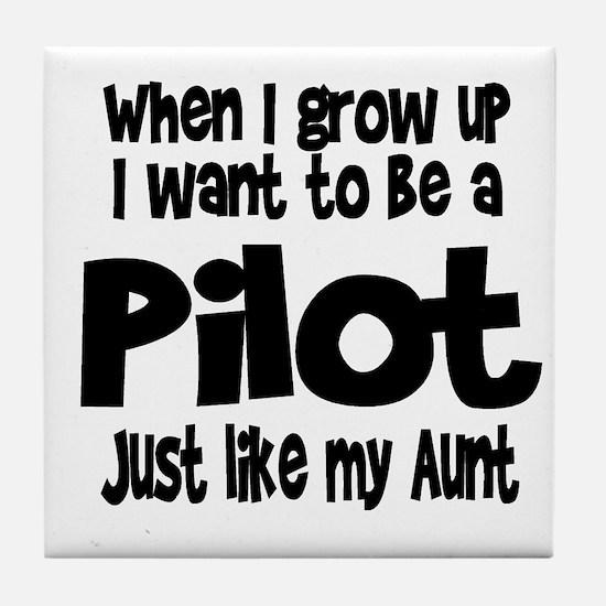 WIGU Pilot Aunt Tile Coaster