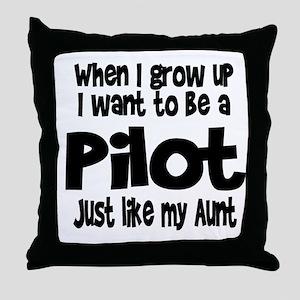 WIGU Pilot Aunt Throw Pillow