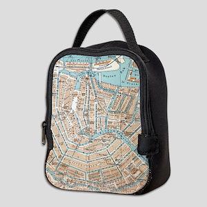 Vintage Map of Amsterdam (1905) Neoprene Lunch Bag