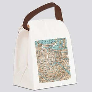 Vintage Map of Amsterdam (1905) Canvas Lunch Bag